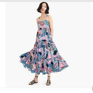 J. Crew Apron Maxi Dress in Ratti Print NWT